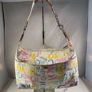 Coach Paint Hampton Graffiti Sig Shoulder Bag